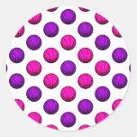 Cute Pink and Purple Basketball Pattern Stickers