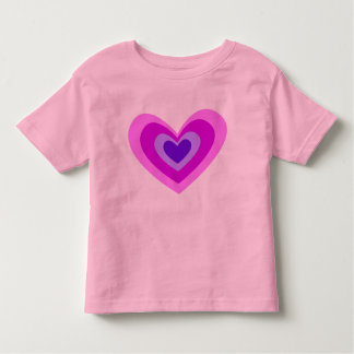 Cute Pink And Purple Concentric Heart Toddler T-shirt