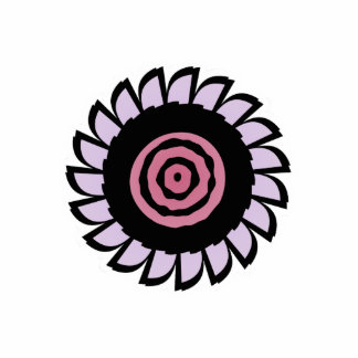 Cute Pink and Purple Flower Magnet