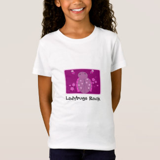 Cute Pink and Purple Ladybug T-Shirt