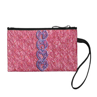 Cute Pink and Purple Love Hearts Coin Purse