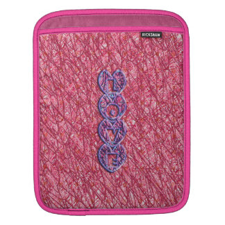 Cute Pink and Purple Love Hearts Sleeve For iPads