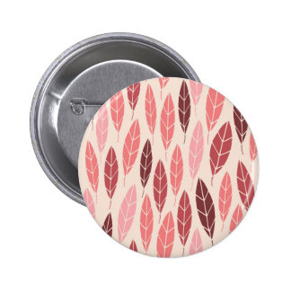 Cute pink and red leaves pattern button