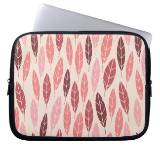 Cute pink and red leaves pattern computer sleeves