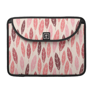 Cute pink and red leaves pattern MacBook pro sleeve