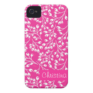 Cute pink and white autumn berries iPhone 4 cover