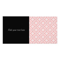 Cute Pink and White Geometric Circles Pattern Card