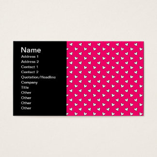 Cute Pink and White Heart Pattern Business Card