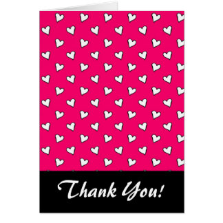 Cute Pink and White Heart Pattern Card