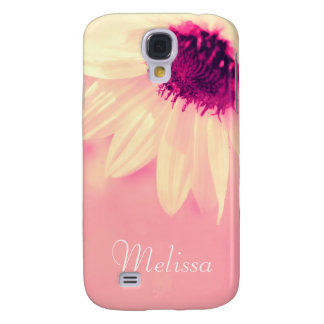 Cute Pink And Yellow Sunflower Customizable Galaxy S4 Cover