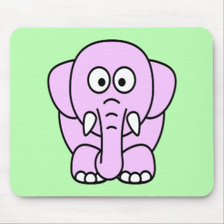 Cute pink animated little elephant mouse pads