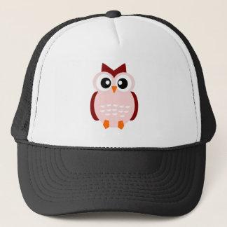Cute pink animation cartoon owl illustration trucker hat