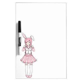 Cute Pink Anime Bunny Girl Lolita Dry-Erase Board