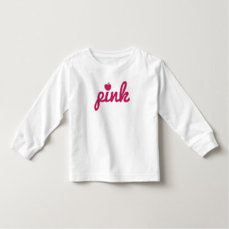 Cute Pink Apple Typography T-shirt