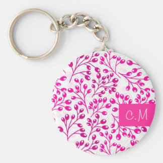 Cute pink autumn berries keychain