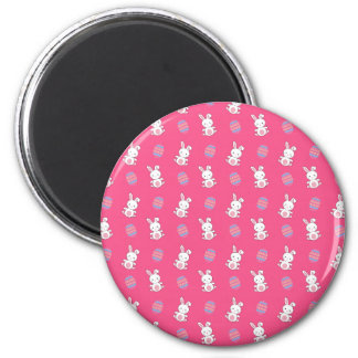 Cute pink baby bunny easter pattern magnet
