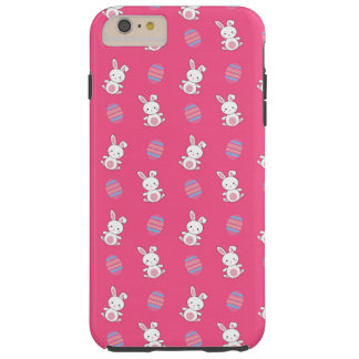 Cute pink baby bunny easter pattern tough iPhone 6 plus case