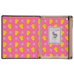 Cute pink baby chick easter pattern iPad folio cases
