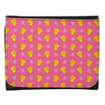 Cute pink baby chick easter pattern leather wallet