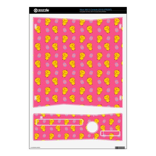 Cute pink baby chick easter pattern xbox 360 s decal