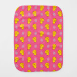 Cute pink baby chick easter pattern baby burp cloths