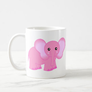 Cute Pink Baby Elephant Coffee Mug