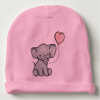 Cute Pink Baby Elephant Hat