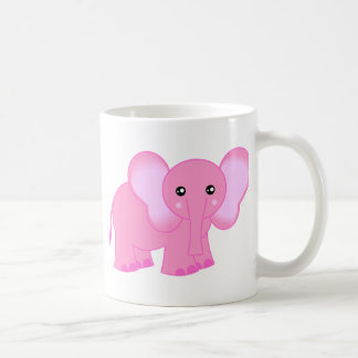 Cute Pink Baby Elephant Mugs