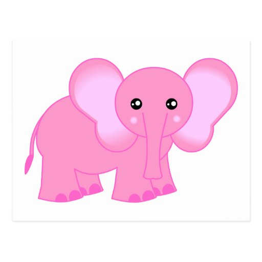 Cute pink elephant - photo#9