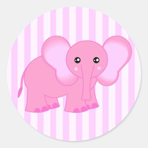 Cute pink elephant - photo#28