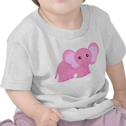 Cute Pink Baby Elephant Tee Shirts