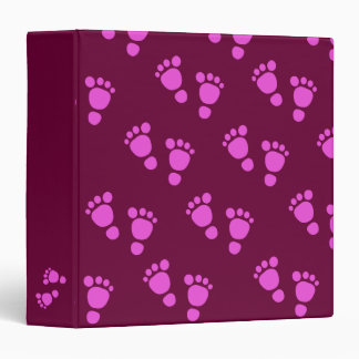Cute Pink Baby Footprint It's A Girl! Binder