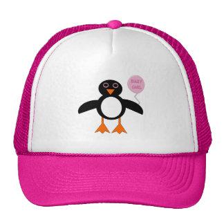 Cute Pink Baby Girl Owl Hat