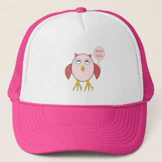 Cute Pink Baby Girl Owl Hat