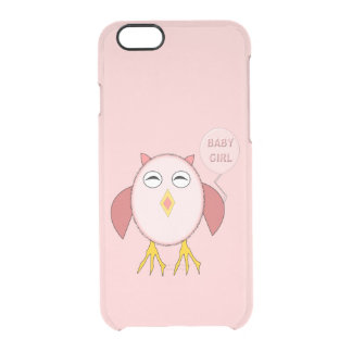 Cute Pink Baby Girl Owl iPhone Case