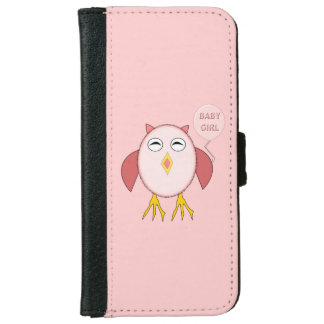 Cute Pink Baby Girl Owl iPhone Wallet Case