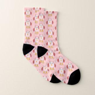 Cute Pink Baby Girl Owl Patterned Socks