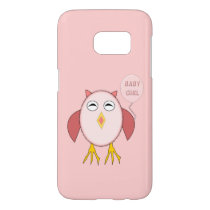 Cute Pink Baby Girl Owl Samsung Case