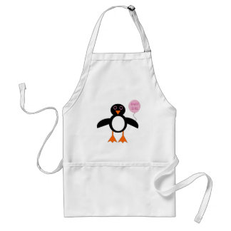 Cute Pink Baby Girl Penguin Cooking Apron