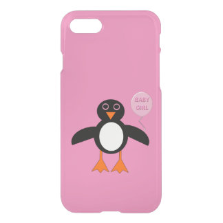 Cute Pink Baby Girl Penguin iPhone Case