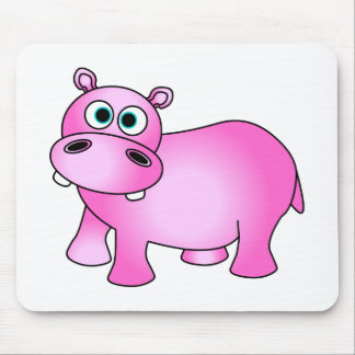 Cute Pink Baby Hippo Mouse Pad