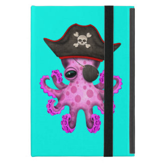 Cute Pink Baby Octopus Pirate Case For iPad Mini