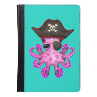 Cute Pink Baby Octopus Pirate iPad Air Case