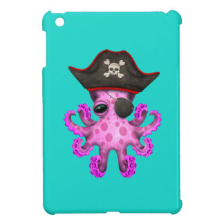 Cute Pink Baby Octopus Pirate iPad Mini Cover