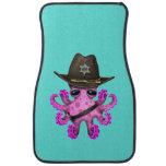 Cute Pink Baby Octopus Sheriff Car Floor Mat
