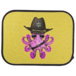 Cute Pink Baby Octopus Sheriff Car Mat