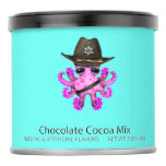 Cute Pink Baby Octopus Sheriff Hot Chocolate Drink Mix