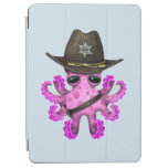Cute Pink Baby Octopus Sheriff iPad Air Cover