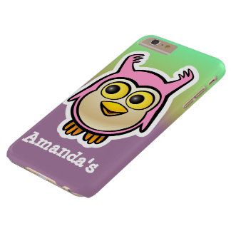 Cute Pink Baby Owl Cartoon Barely There iPhone 6 Plus Case
