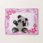 Cute Pink Baby Panda Bear Puzzle